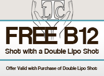 Free B12 Shot, Offer Valid with Purchase of Double Lipo Shot
